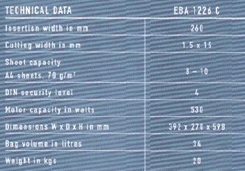 EBA 1226C (二手機)